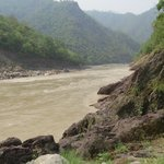 Ganga river bank near the bulls retreat