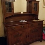 Antique cupboard in the room