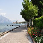 The walk from the hotel into Malcesine