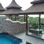 Private pool and lounge area