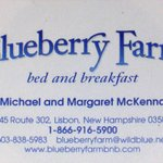 Blueberry Farm Bed and Breakfast (business card)