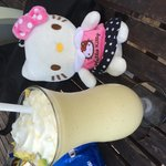 Avocado shake with hello kitty doll =)