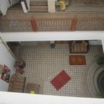 View into the Riad from the roof terrace