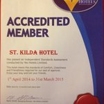 Yes hotel Blackpool certificate