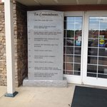 A slate with the 10 Commandments at the entrance.... Kids don't bring your Prom dates here! d