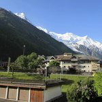 View toward Mont Blanc from our other balcony