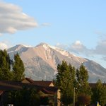 Mount Sopris view from Carbonale Days Inn front door