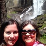 at vernal falls in yosemite
