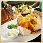 Cornish Beer Battered Fish & Chips and Blackened Pork Shoulder and Pasta