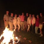 Our Group at the Bonfire