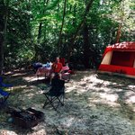 Our Tent Camp in the Shade!