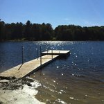 Great dock for swimming & tanning on Spring Lake.