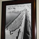 Wonderful historic pictures of Grand Coulee Dam in our room