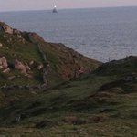 fastnet rock lighthouse from south side of cape clear