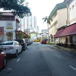 A view streets next to the hotel on our way to Lavender MRT Station