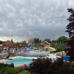 It was a cloudy day but the park is very eventful