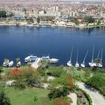 Gardens and view to Aswan