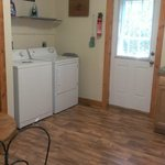Washer & dryer in kitchen area