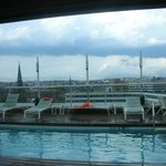 Rooftop pool overlooking D.C.
