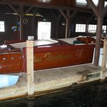 Boathouse tour boat.