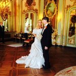 Our wedding in the Salon of Mirrors