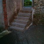 Steep steps down to The Cottage