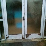 Unsecure door into pool house