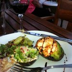 the baked avocado in the resturant - YUMMMM