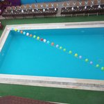 pool/bar area ready for show + bbq