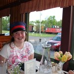 Dinner in the dining car.