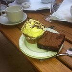 Afternoon tea at the Malvern Spa - with home made brownies & cupcakes