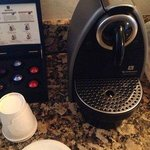 In-room Nespresso machine with proper cups!