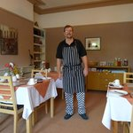 Chef Andrew in his lovely dining room. Him and his wife are lovely friendly hosts