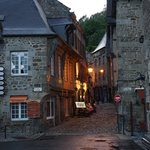 Dinan Port street with a great bakery at the corner