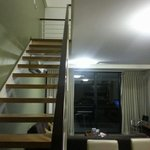 stairs to 2nd level of the 2 bedroom apartment