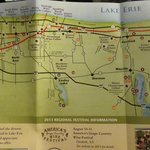 map of the Holiday Inn(I-90, exit 41) and the wineries in Lake Erie,PA and western NY.