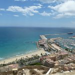 View from Santa Barbara Castle, Alicante, Spain. Looking at The Marina