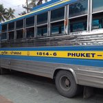 Bus to Phuket town (30baht) along the beach