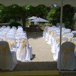 Terrace wedding set up