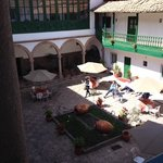 the central plaza/courtyard