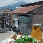 Lunch in view of Mt Etna
