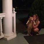 My girl with Pumpkin Pie, the kitty that live at the Chestnut St. Inn.
