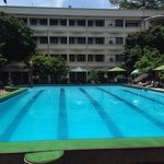 The pool at the Army Hotel. A nice place to relax in the sun in Hanoi!