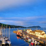 Campbeltown harbour from the hotel