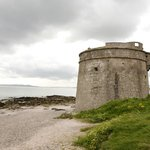 Martello Tower and Beach in front of hotel