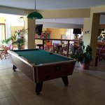 Poolside bar and games room