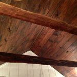 Beautiful ceiling in the bedroom in The Bluebonnet Barn