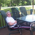 Mom relaxing on the deck