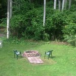 Room view of new fire pit