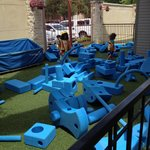 Building blocks and shapes - outdoors area